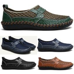 Men Leather Loafers Casual Shoes Breathable Driving Slip on