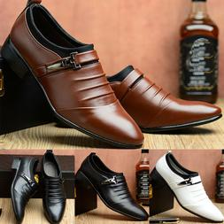 Men Oxfords Leather Shoes Formal Dress Business Party Pointe