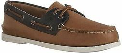 Sperry Men's a/O 2-Eye Sahara Pack Boat Shoe, Sahara/Navy, S