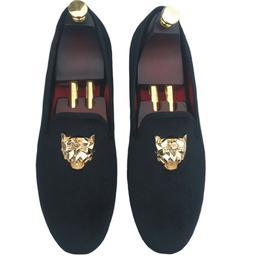men s black velvet loafers slip on
