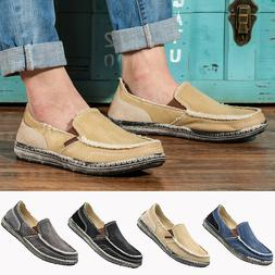 Men's Canvas Casual Loafers Breathable Antiskid Shoes Drivin