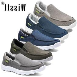 Men's Canvas Driving Moccasin Shoes Penny Slip-on Sneakers B