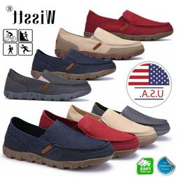 men s casual canvas shoes loafers breathable