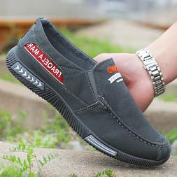 Men's Casual Canvas Shoes Loafers Breathable Flats Driving B