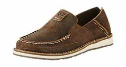 Ariat Men's Cruiser Moc Toe Slip On Rough Oak Fabric/Leather