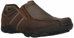 Skechers Men's Diameter-Zinroy Slip-On Loafer, Dark Brown, S