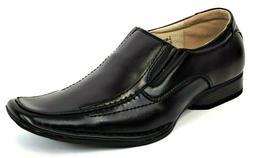 Men's Dress Casual Shoes Slip On Loafers Black Bike Toe MAJE