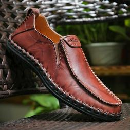 men s driving casual boat shoes leather