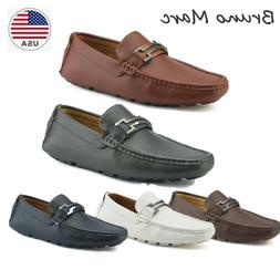 BRUNO MARC NEW YORK Mens Faux Leather Driving Penny Loafers