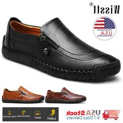 Wisstt Men's Flats Leather Slip On Casual Driving Loafers Mo
