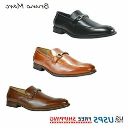 Bruno MARC Men's Formal Modern Classic Slip On Leather Lined