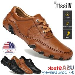 men s genuine leather casual shoes antiskid