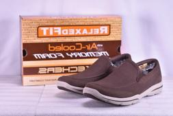 Men's Skechers Harper- Brawley Slip-On Loafers Chocolate