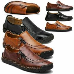 Men's Leather Casual Soft Vintage dress Shoes Breathable Non