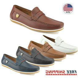 Men's  Loafers Breathable Casual Driving Moccasins -Toe  Sli