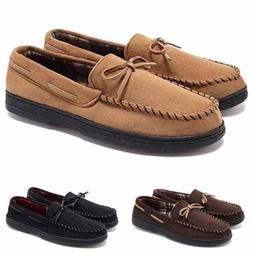 Men's Loafers Suede Shoes Micro Slip On Rubber Driving Comfy