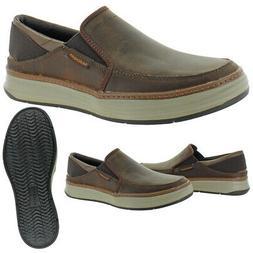 Skechers Men's Moreno-Relton Leather Slip On Casual Moc Loaf