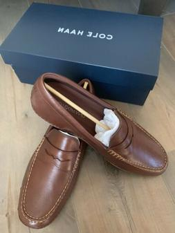 Cole Haan Men's MotoGrand Brown Leather Driving Penny Loafer