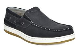 BRUNO MARC NEW YORK Men's Pitts_15 BLK/BLK Penny Loafers Moc