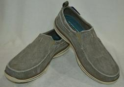 Skechers Men's Relaxed Fit Elected Drigo Taupe Slip-On Shoes