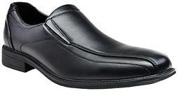 VEPOSE Men's Slip on Dress Shoes Formal Square Toe Loafer Ox