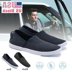 Men's Slip On Loafers Canvas Casual Boat Shoes Flats Sneaker