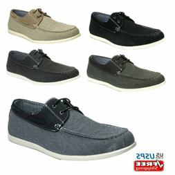 Men's Slip on Loafers Lace Up Casual Shoes Driving Canvas Bo