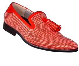 Men's Slippers, Rhinestone Shoes - Mens Slip On Shoes - Tuxe