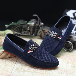 Men's Suede Leather Minimalism Driving Moccasins Loafers Sli