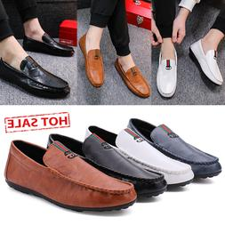 Men's Summer Peas Shoes Driving Shoes Casual Loafers Busines