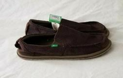 Sanuk Men's Trailgater Mesh Loafer Shoes Size: 10 NWOB Brown