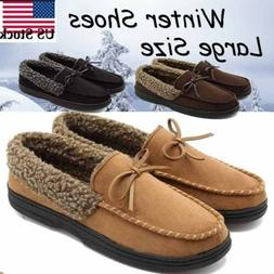 Men's Velvet Loafers Moccasins Flats Outdoor Warm Driving Sl