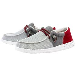 Hey Dude Men's Wally Sox Funk Dark Grey & Red Shoes 11035311