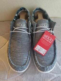 Hey Dude Men's Wally Sox Ice Grey Shoes SZ US 12