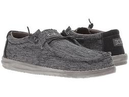 Hey Dude Men's Wally Woven Casual Slip On Loafer Carbon