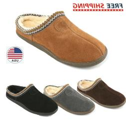 Men's Warm Slippers Suede leather Indoor Outdoor Sheepskin C