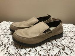 Crocs Men Walu Loafer Shoes Khaki Canvas Size M9 New With Ta