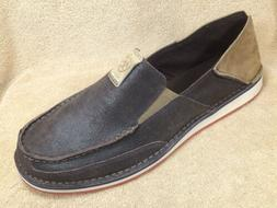 Ariat Mens 12 Cruiser Brown Leather Loafers Moc Toe Walking