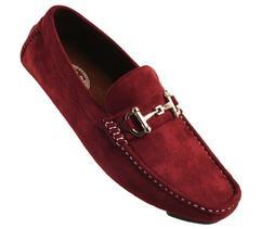 Amali Mens Burgundy Plush Microfiber Loafer Driving Shoe : W