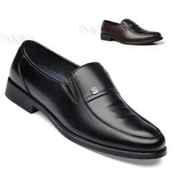 mens business dress formal slip on leather