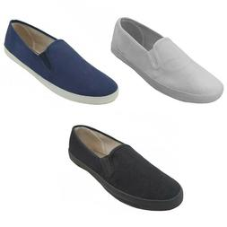 mens canvas loafers sneakers slip on fashion
