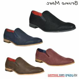 Bruno MARC Mens Casual Shoes Suede Leather Slip On Fashion L