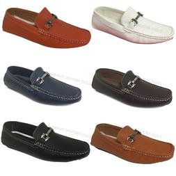 mens driving casual moccasins leather loafers slip