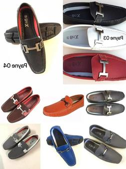 Mens Driving  Casual Shoes Moccasins Leather Loafers Slip On