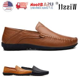 Men's Driving Moccasins Shoes Leather Loafers Slip Comfort
