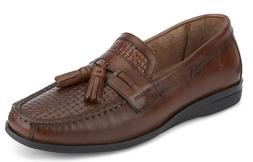 Mens Dockers Hillsboro Antique Brown Leather Slip On Shoes