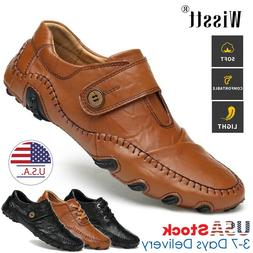 Mens Leather Casual Shoes Wedding Dress Formal Work Driving