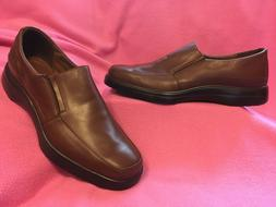 MENS MEDIUM BROWN LEATHER LOAFER by HITCHCOCK Sz 14-3E EXTRA