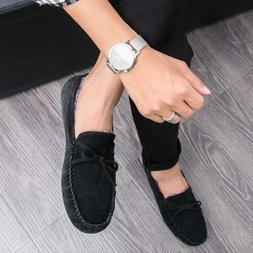 Mens Micro Suede Loafers Slip On Indoor Outdoor Cozy Moccasi
