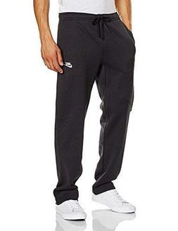 mens open hem fleece pocket sweatpants dark